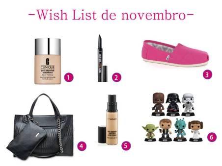wish list novembro