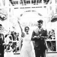 O que fazer para saída dos noivos?